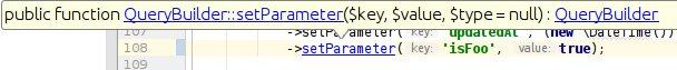 Nullable Values müssen in der Konfiguration berücksichtigt werden. Beispiel: setParameter() im QueryBuilder