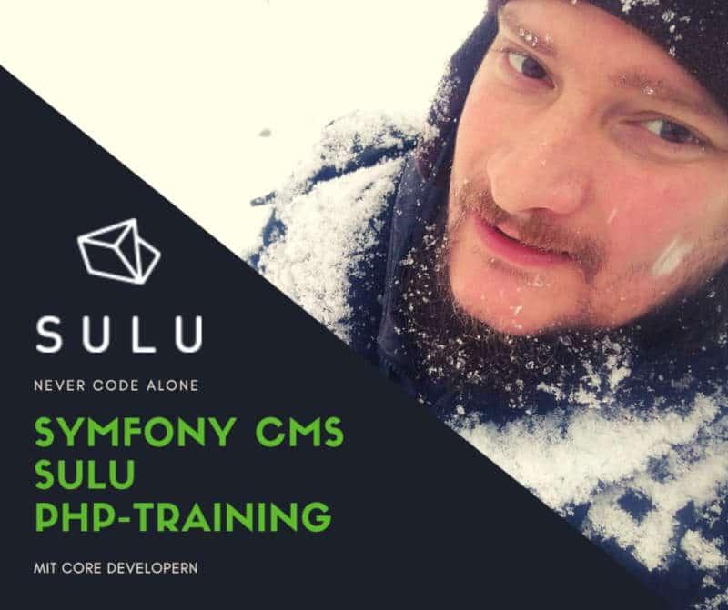 Symfony CMS Sulu PHP Training