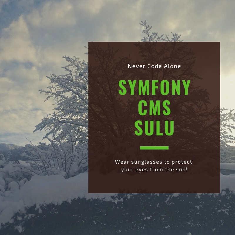 Symfony Sulu CMS