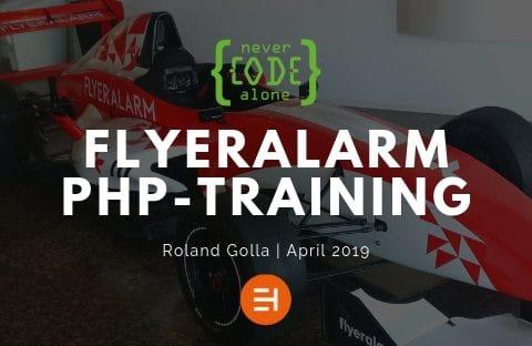 PHP-Schulung für Teams mit der Funktastatur überzeugt Flyeralarm