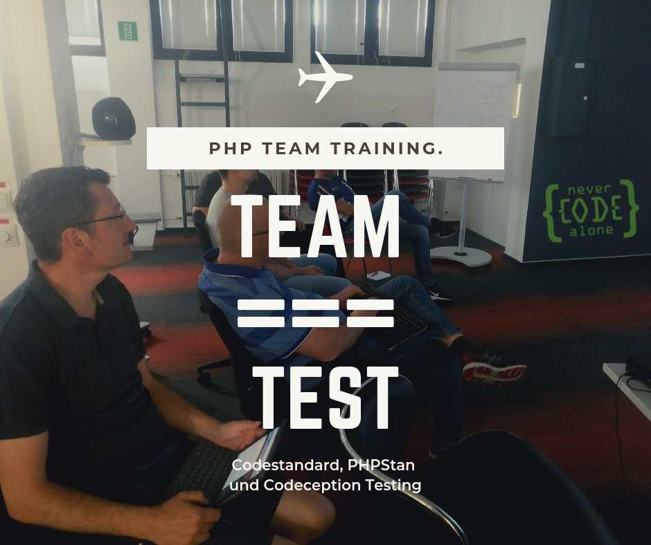 Codeception Workshop als PHP Team Training in Mannheim