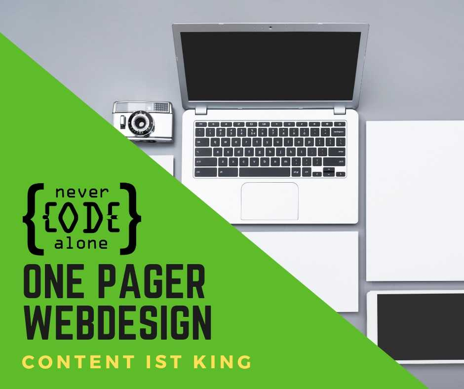 Webdesign One Pager