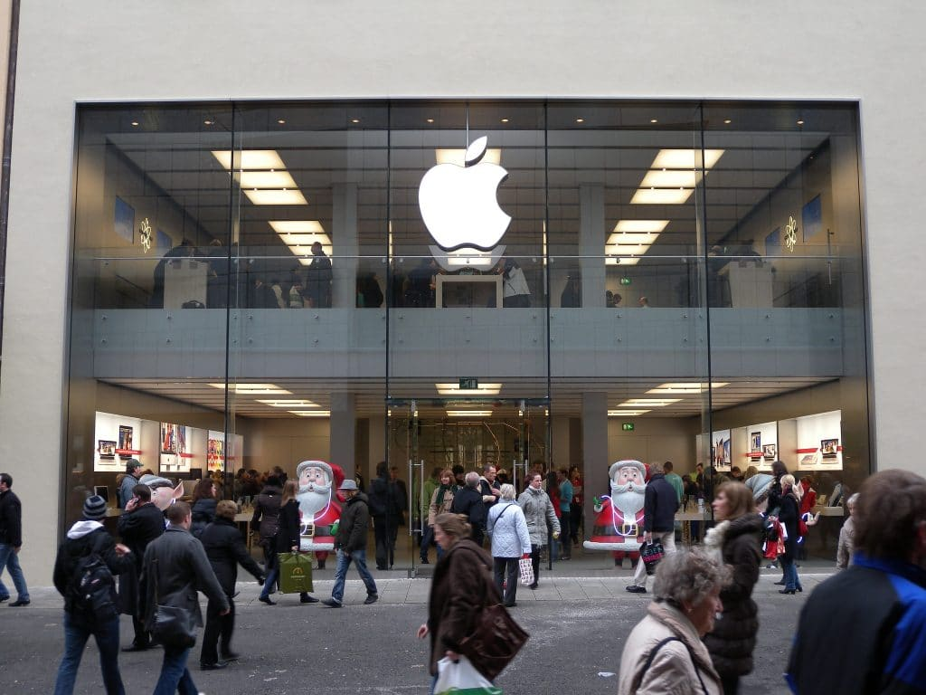 Apple Store in Frontansicht