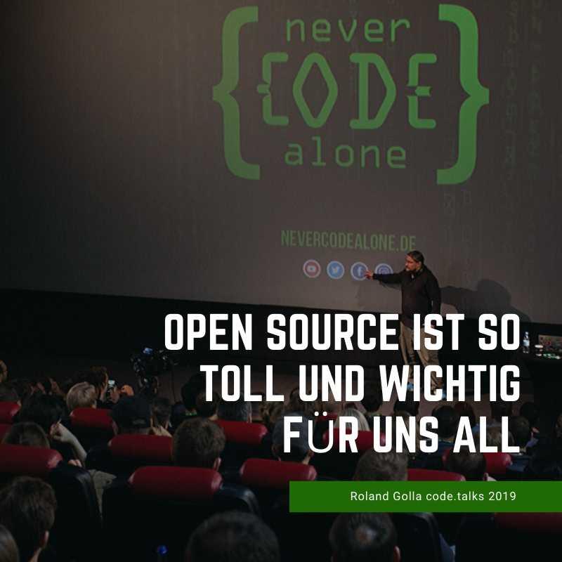 Open Source ist toll - code.talks 2019 - YT Minute 24