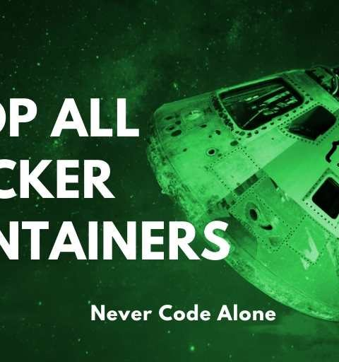 Docker stop all containers – PHP-Tricks