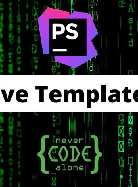 PhpStorm Live Templates – Schnelles Arbeiten mit Gamification