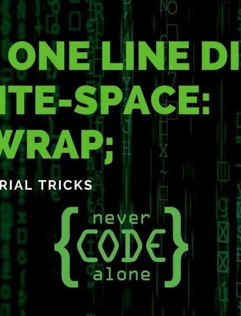 CSS One Line DIV white-space: nowrap; Tutorial